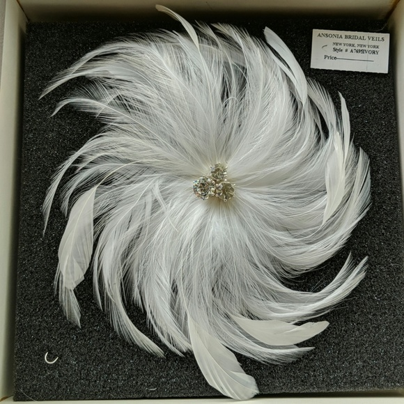 Ansonia Bridal Accessories - Ansonia Feather Bridal Hairclip